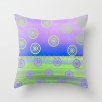 circles Throw Pillows featuring Circles by Fine Art by Rina