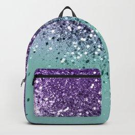 Purple Teal Mermaid Ocean Glitter #1 (Faux Glitter) #shiny #decor #art #society6 Backpack