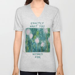 Abstract Dandelions WISH Unisex V-Neck