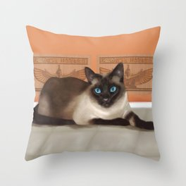 All Cats are Gods Throw Pillow