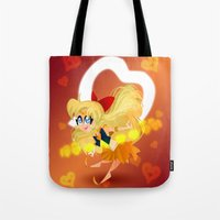 sailor venus Tote Bags featuring Sailor Venus by The Art of Eileen Marie
