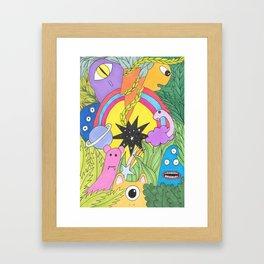 5 Framed Art Print