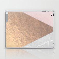 Geo tri - rose gold & concrete Laptop & iPad Skin