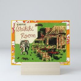 Tiki Art Exotic Waikiki Room Mini Art Print