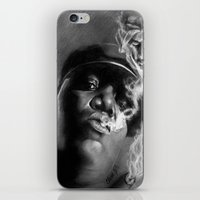 tupac iPhone & iPod Skins featuring It Was All A Dream... by Claras Blackbook