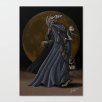 sandman Canvas Prints featuring Sandman by Sloe Illustrations