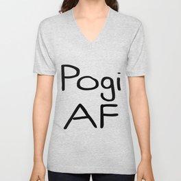 Pogi AF   Very Funny Gift Idea Unisex V-Neck