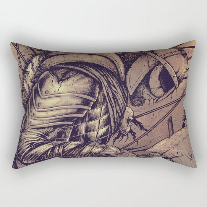 Last Struggle Rectangular Pillow