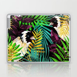Tropical birds and green leaves Laptop & iPad Skin
