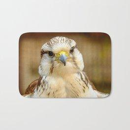 Gyrfalcon Falcon Closeup Bath Mat