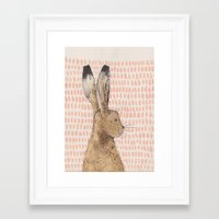 hare Framed Art Prints featuring Hare by stephanie cole DESIGN