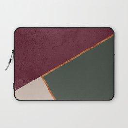 Burgundy Olive Green Gold and Nude Geometric Pattern #society6 #buyart Laptop Sleeve