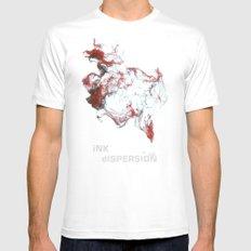 Ink dispersion Mens Fitted Tee MEDIUM White