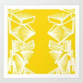 Bookworm - Marigold Art Print
