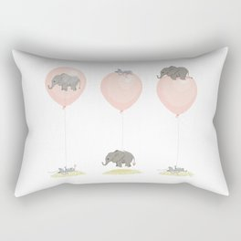 Elephant, globe and mouse Rectangular Pillow