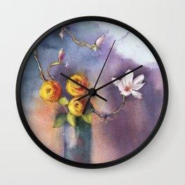 Dancing Shadows Floral Wall Clock