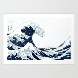 The Great Wave - Halftone Art Print