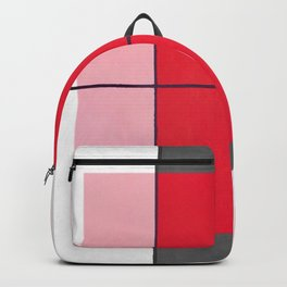 August - gray graphic Backpack