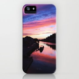European Pink Sunset iPhone Case