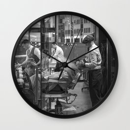 London barber - beard shave Wall Clock