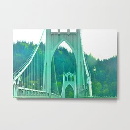 St. Johns Bridge Portland Oregon Metal Print