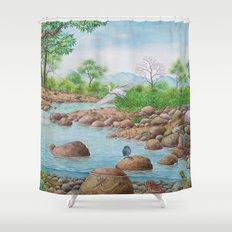 A Day of Forest(7). (the river ecosystem) Shower Curtain