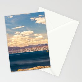 Sunny day view from Krk island to the gulf of Rijeka Stationery Cards