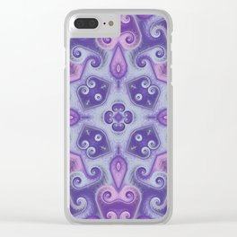 Pink and Purple Pastel Square 1 Clear iPhone Case