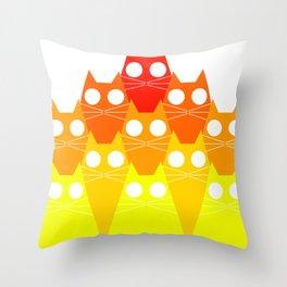 Cats Mountan Throw Pillow