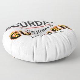 Bourdain in the Streets, Fieri in the Sheets Floor Pillow
