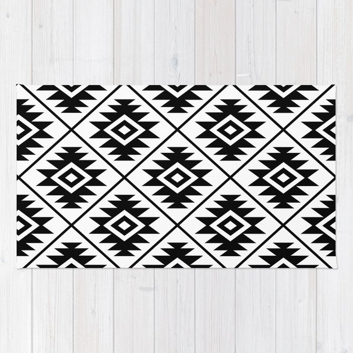 Black And White Aztec Rug Rugs Ideas