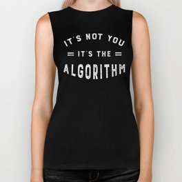 Blame the Social Media Algorithm Biker Tank