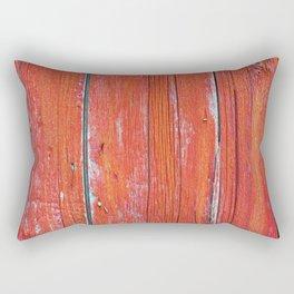 Red Rustic Fence rustic decor Rectangular Pillow