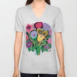 Animal Flowers Unisex V-Neck