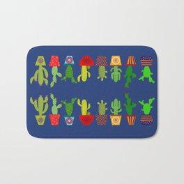 Cactus in blue Bath Mat