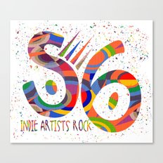 Society 6 Indie Artists Rock Canvas Print