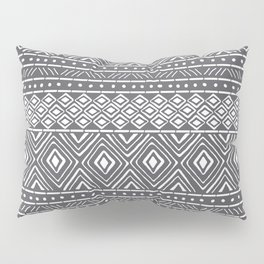 African Mud Cloth // Charcoal Pillow Sham