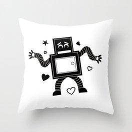Rant Robot Throw Pillow