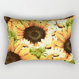 Summer Garden (Sunflower Sunshine) Rectangular Pillow