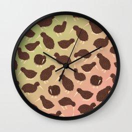 Cuddly Kiwis Wall Clock