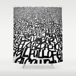 Upwords Shower Curtain