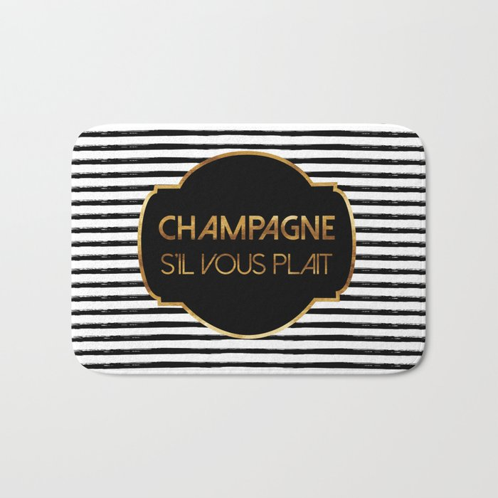 Champagne S'il Vous Plait Bath Mat
