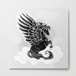 Black Pegasus Metal Print