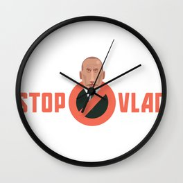 STOP VLAD Wall Clock
