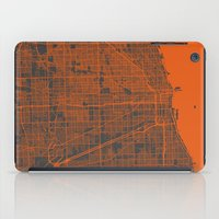 chicago map iPad Cases featuring Chicago map by Map Map Maps