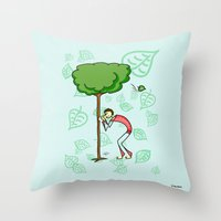 coconut wishes Throw Pillows featuring Wishes by Giuseppe Lentini
