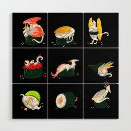 Sushi Dragons Wood Wall Art