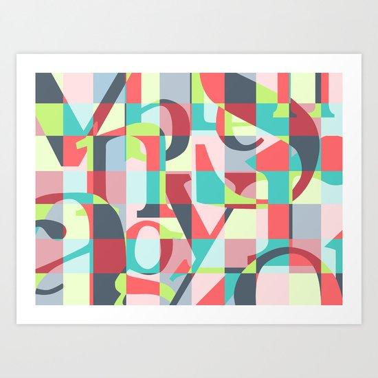 Colorful Language  Art Print