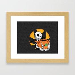 Jack's Pumpkin Bong Framed Art Print