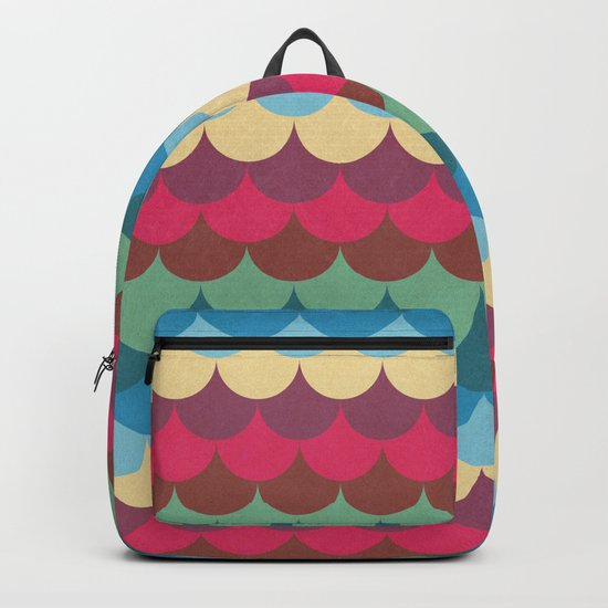 Colorful Mermaid Pattern Backpack